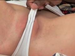 Ebony man seduces Amber Rayne to have sex