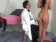 French doctor performs a full physical exam