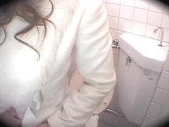 Naughty asian girl is screwed hard by boyfriend in toilet