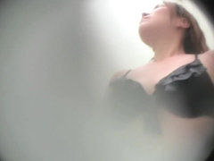 Tan lined tits on the changing room voyeur cam and in shower snr21