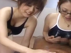 Exotic Japanese model Neiro Suzuka, Hiyoko Morinaga, Anon Hanaki in Fabulous Stockings, Gangbang J.