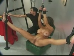 Big breasted wife is punished!