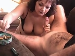 big breasted milf knows how to give a great blowjob