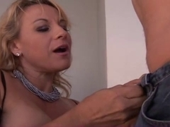 Older lascivious lady screwed and spunked