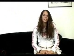 Innocent teen hottie buggered with big dick and a dildo