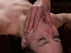 Horny fetish porn scene with crazy pornstars Juliette March and Owen Gray from Dungeonsex