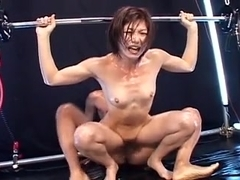 japanese fit girl fucked while doing exercise