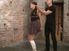 Fresh Young Pretty Girl Destroyed by Bondage and Orgasms