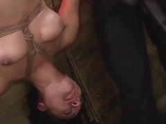 Rope Suspension BDSM Fun for Isa Mendez from Mila Blaze & Lexy Villa