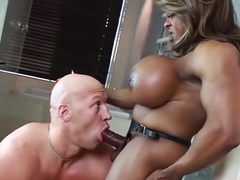 Incredible pornstar Yvette Bova in fabulous ebony, big tits xxx clip