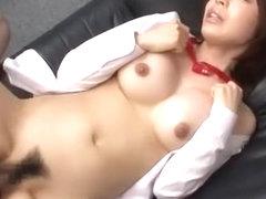 Horny Japanese girl Aya Sakurai in Amazing Office JAV video