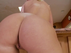 Riley Chase uses a cucumber to cum ... hard