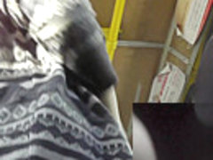 Free upskirt video of the pretty chick in the bus