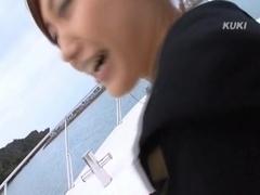 Nana Konishi Amazing Asian model has sex on the ship