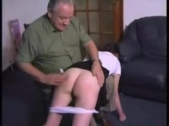 Hot Angel Receives an OTK Flogging