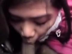 Filipina skips school to engulf some knob
