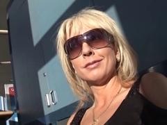 Blonde MILF pornstar Alysha in a gangbang