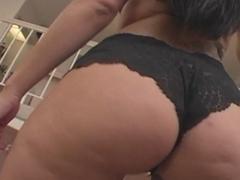 Buxom and long haired brunette slut enjoys anal