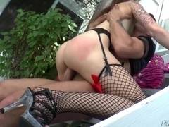 Smoking hot Kylies first time sex with a huge cock