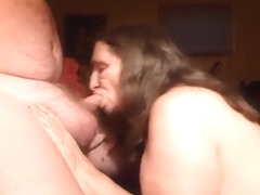i love sucking off my husbands cock  cum in my mouth