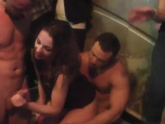 Real euro babe fucked from behind at sexparty