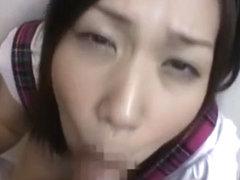 Exotic Japanese slut Yuuha Sakai in Incredible Blowjob/Fera JAV clip