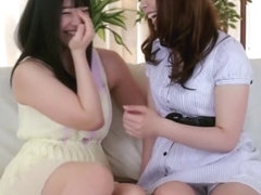 Incredible Japanese whore Ai Uehara, Yui Hatano in Amazing lesbian JAV movie