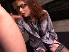 Girl Secretary Drinks Every Drop Of Cum