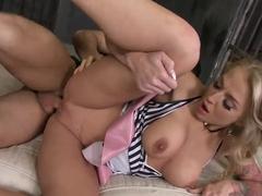 Kayla Green feels big dick entering holes