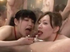 Fabulous Japanese model in Hottest Showers, Group Sex JAV video