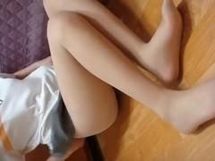 Korean Dilettante Legal Age Teenager Panty Nylons Tease