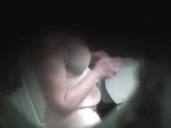 Mother In Law Getting Out Of Shower