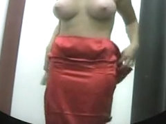 busty girl changing