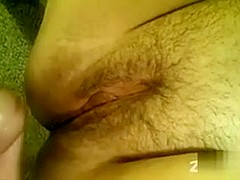 B pumping sweetheart's constricted butt and dropping a load