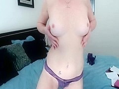 Pounding my MILF slit with a sex toy