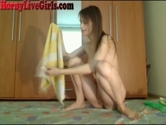 Hot Teen Strips And Dances On Webcam