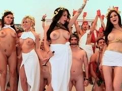 Pornstar toga party orgy
