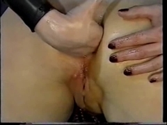 Erotic fisting with naughty spandex catsuit porn ladies