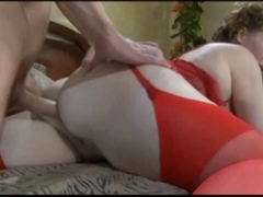Mature slut enjoys an anal fucking with a younger male