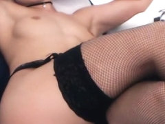 Horny stockings amateur blonde