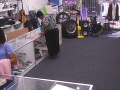 Desperate girl got fucked hard in the pawnshop for money