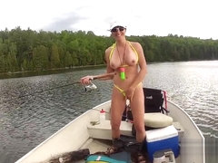 Bianca Fishing In Her Micro Bikini - KinkyFrenchies