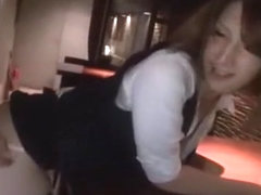 Fabulous Japanese whore Mao Yura in Horny Bar JAV movie