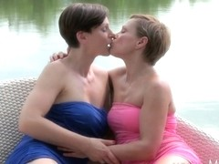 MOM HD Amazing lesbian MILFs eating pussy outdoors