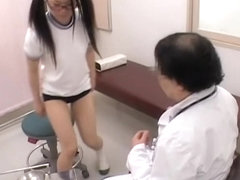 Schoolgirl's asian pussy gets examined at the medical clinic