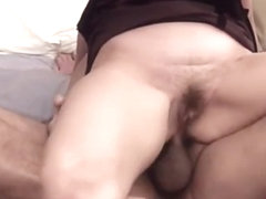 Anal milf tries insertions to stretch barely lubed butthole