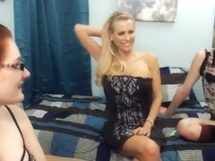 Four Girls (Three young and one Milf) topless and talk New Age Bullshit.