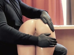 Hot submissive girl does highly erotic blowjob