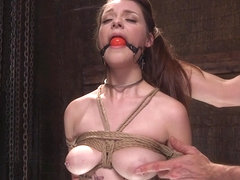 Slave babe submits holes to masters
