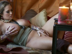 Afternoon tantric sex by amazing, busty Trina Michaels and her bestfriend